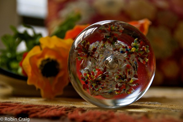 Hand Blown Glass Paper Weight