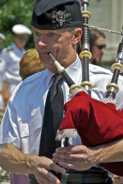 Scottish Pipes at Memorial Day Celebration