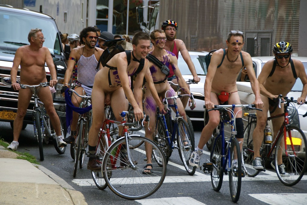 Bicycle girl naked