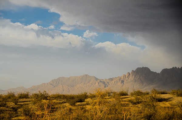 Organ Mountains in Las Cruces, New Mexico