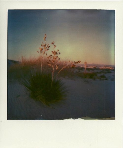 White Sands New Mexico using Polaroid One Step SX-70 film