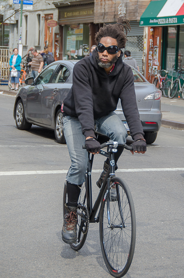 cycling in Williamsburg, Brooklyn NYC