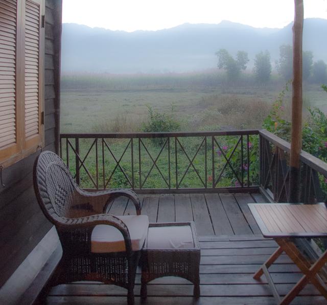 private terrace at the inle lake princess resort in myanmar