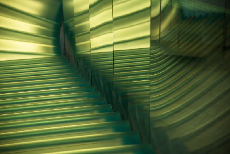 steps in the Taubman Museum in Roanoke VA