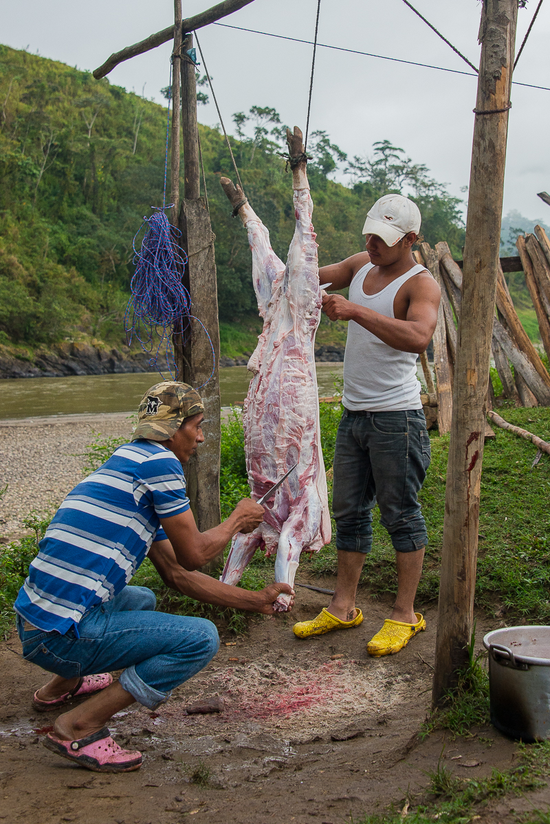 village activity along the rio coco in nicaragua
