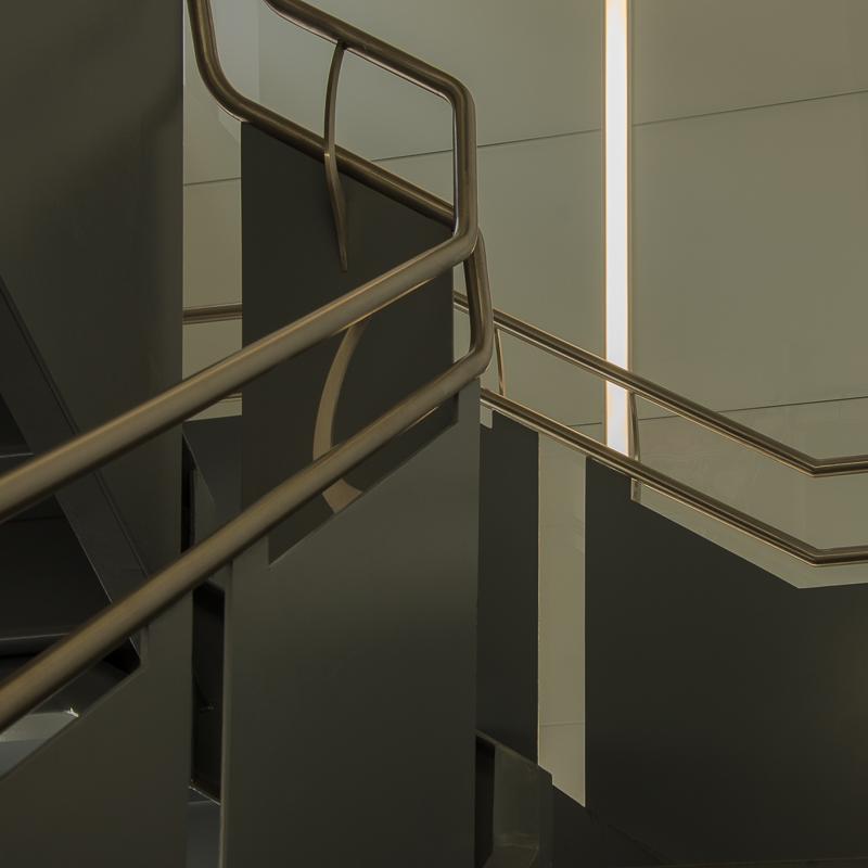 stairwell in Cooper Hewitt in NYC