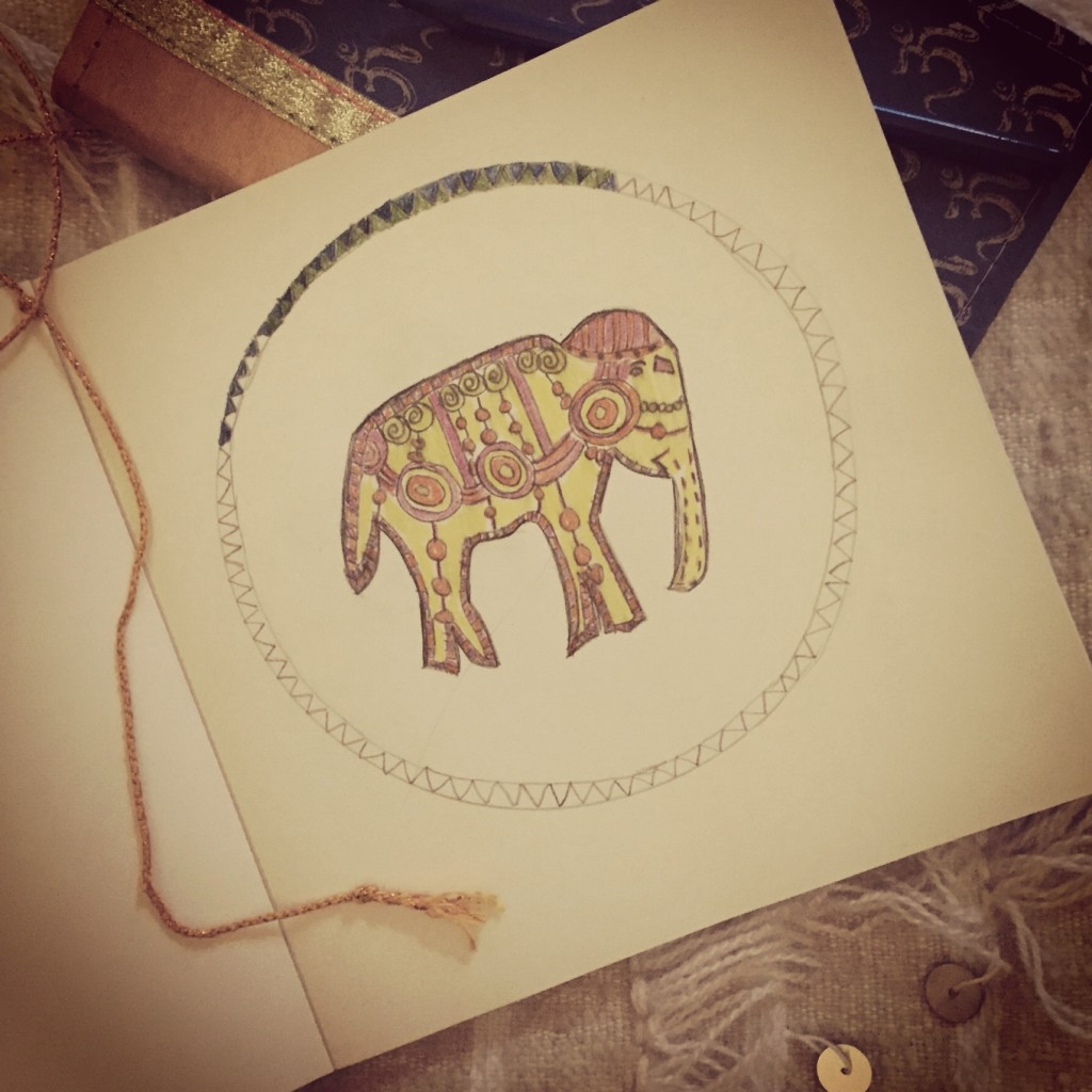 elephant doodling