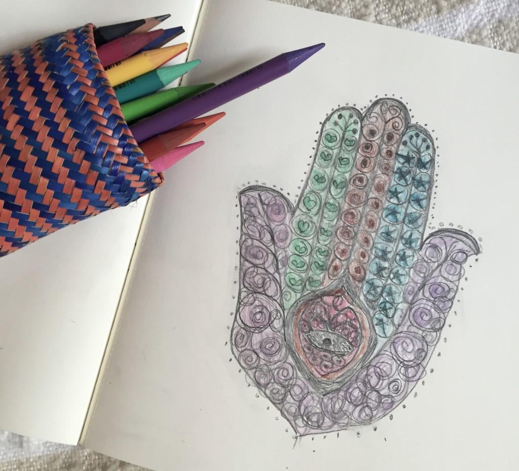 hamsa doodling