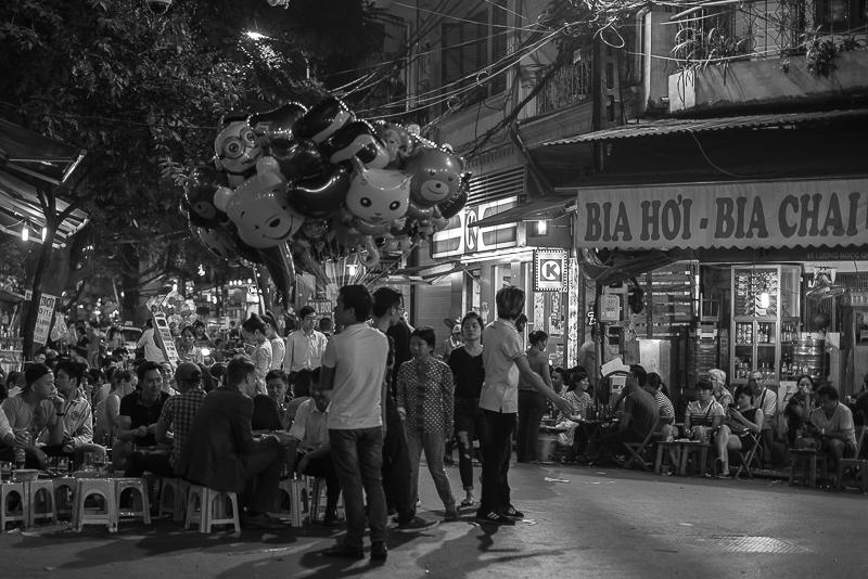 Old Quarter, Hanoi at night