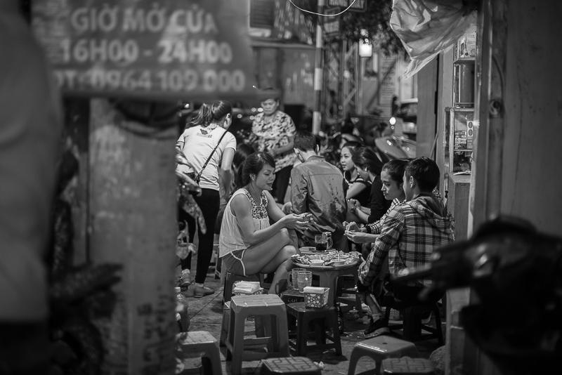 Old Quarter - Hanoi - night time