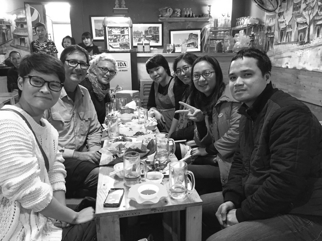 the crew in Hanoi