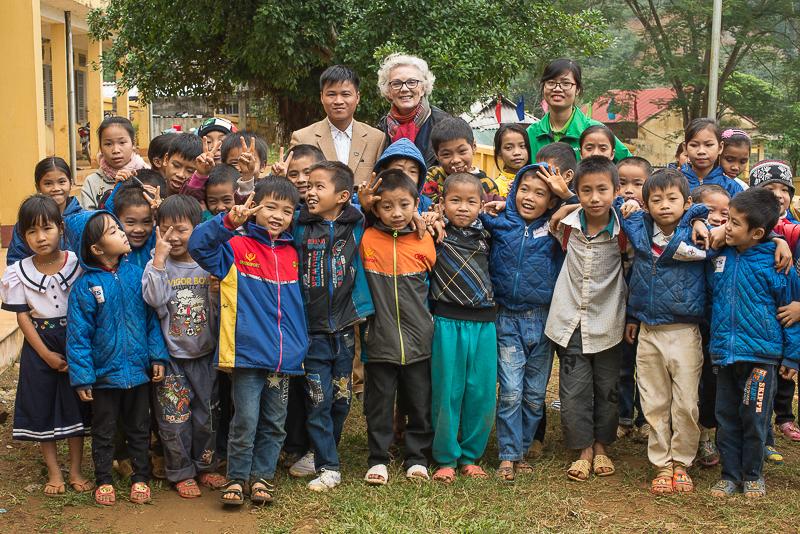 Tan Dan school children Vietnam