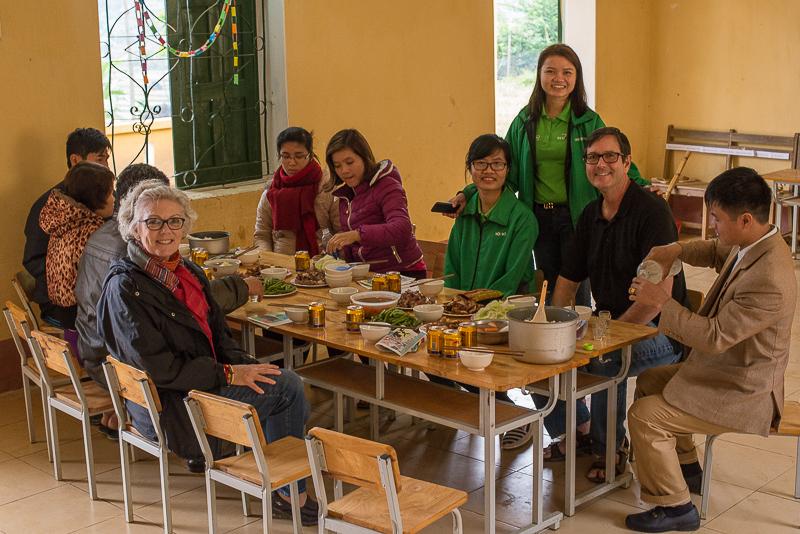 lunch at the tan dan school, vietnam