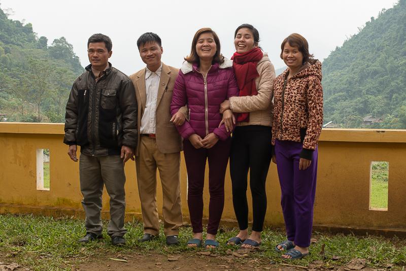 headmaster and teachers at the Tan Dan School in Vietnam
