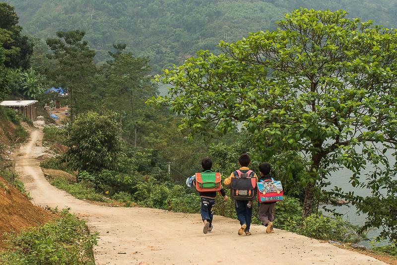 Children in northern Vietnam