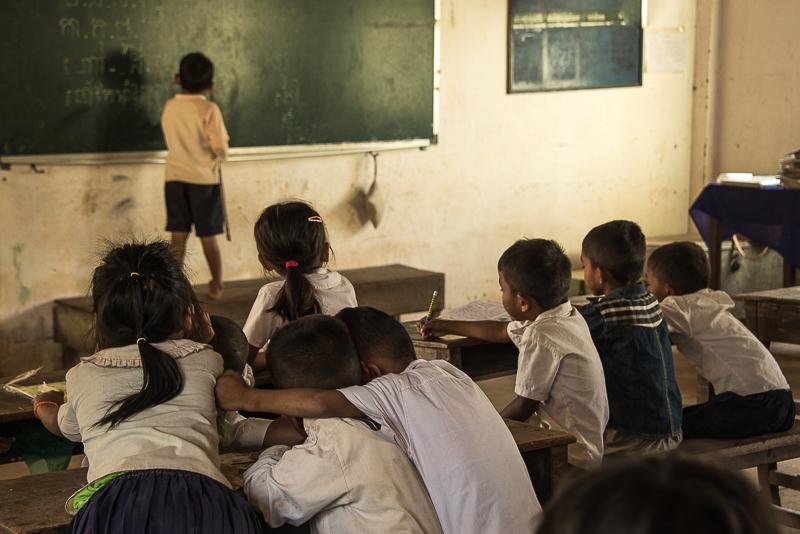 school children in Cambodia