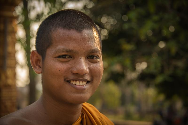 novice Buddhist monk in Cambodia