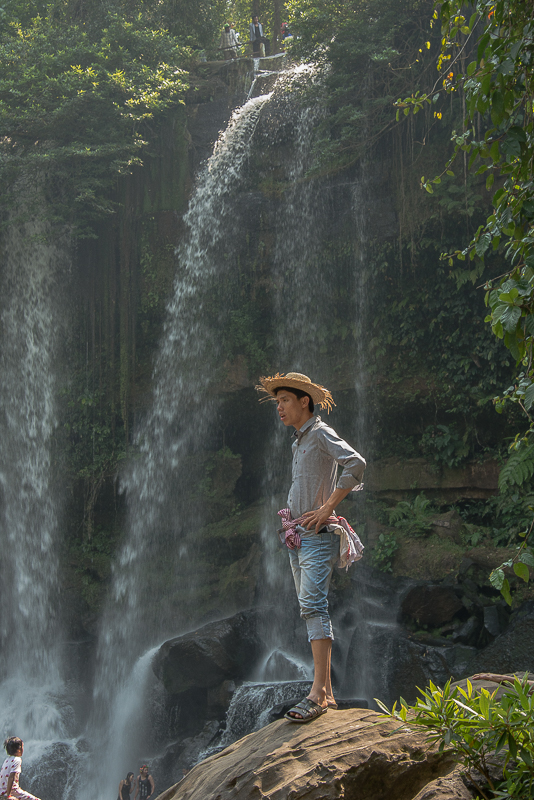 waterfalls at kulen mountain, cambodia