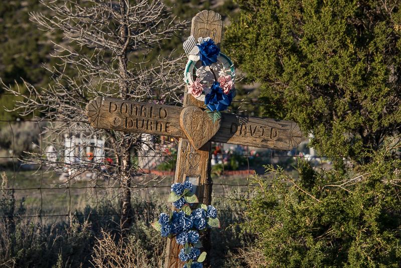 cemetery in el rito community in New Mexico