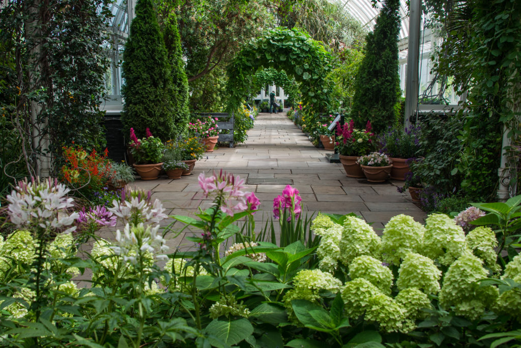 american impressionist garden at NYBG NYC
