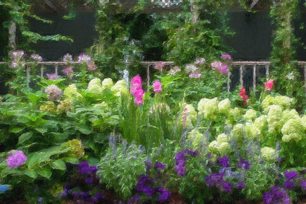impressionism garden at NYBG
